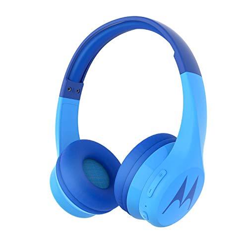 Motorola Squads 300 - Auriculares Bluetooth para Niños - 24hrs - Volumen limitado 85dB, Flexible y duradero,...
