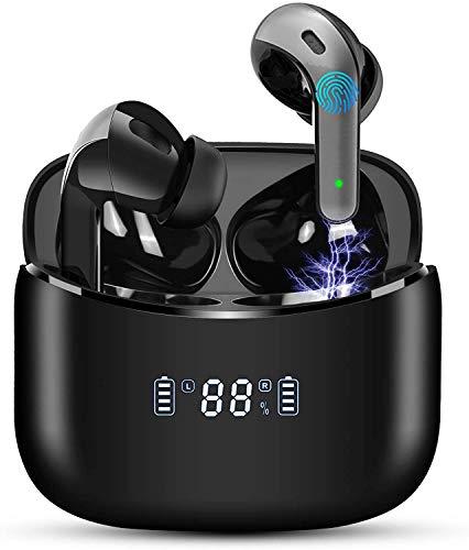 Auriculares Inalámbricos Auriculares Bluetooth 5.1 Pantalla LED Auriculares Deportivos Reproducci 40 Horas,Carga...