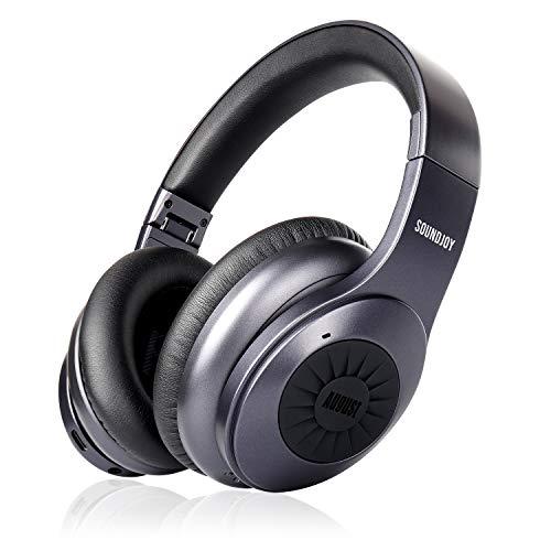 Auriculares Inalámbricos con Cancelación Activa de Ruido Bluetooth 5.0 - August EP765 - ANC Over-Ear aptX-LL...