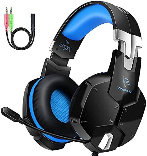 Auriculares Gaming PS4, Cascos Gaming con Micrófono, 3D Sonido y Reducción de Ruido, Jack 3,5mm, Control de Radio,...