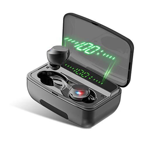 Auriculares Bluetooth Bluetooth 5.0 IPX8 resistente al agua 150H tiempo de juego Touch Control incorporado Mic Auto...