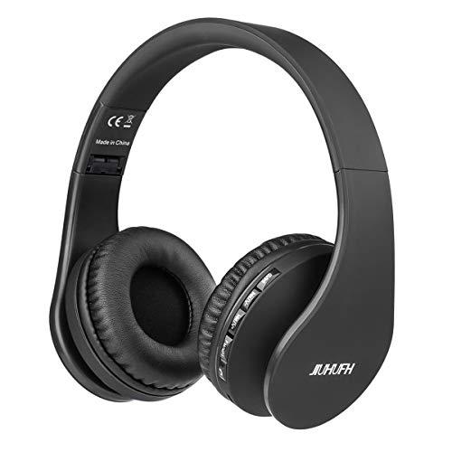 JIUHUFH Auriculares Bluetooth con Micrófono Incorporado/Reproductor de MP3 / Radio FM/Manos Libres para Teléfonos...