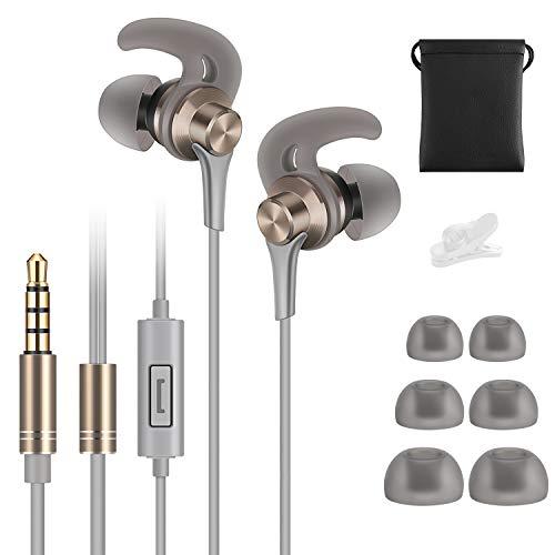 Auriculares deportivos, auriculares Tachio para correr, con un sonido de graves y alta definición de con micrófono,...