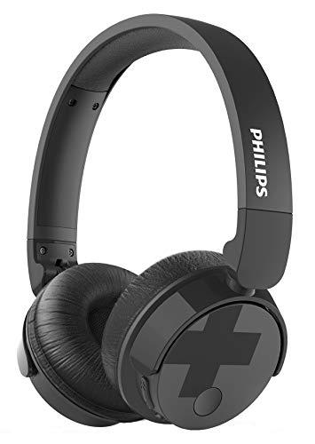Philips BH305BK/00 - Auriculares supraaurales on-Ear (Bluetooth, Bajos voluminosos, cancelación de Ruido, Plegables),...