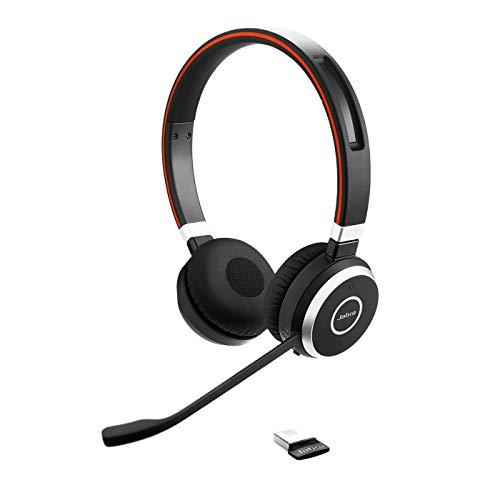 Jabra Evolve 65 Auriculares Inalámbricos Estéreo Certificados por Microsoft con Batería de Larga Duración, Adaptador...