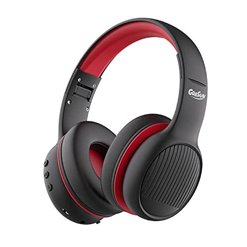 gorsun E66 Auriculares para niños Bluetooth, Auriculares Plegables Bluetooth para Colocar sobre el oído Volumen...