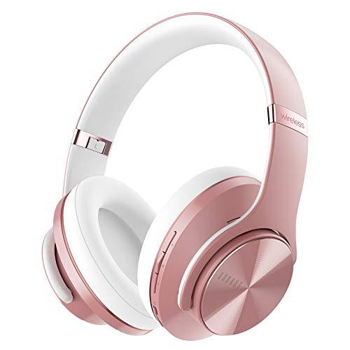 DOQAUS Auriculares Inalámbricos Diadema, [52 Hrs de Reproducción] Hi-Fi Sonido, Cascos Bluetooth con 3 Modos EQ,...