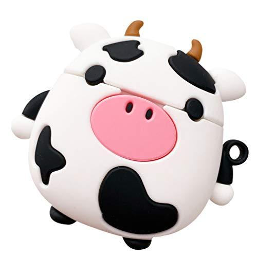 Milisten Funda para Auriculares de Vaca Compatible con Apple Airpods 1/2 Funda Protectora de Silicona para Auriculares...