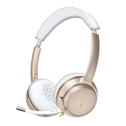 Avantree AH6B Bluetooth en Auriculares con Micrófono Desmontable, Auriculares Inalámbricos de Alta Fidelidad, 22 Horas...