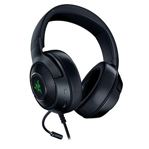Razer Kraken X USB - Auriculares Gaming con sonido envolvente digital 7.1, micrófono cardioide plegable, comodidad...