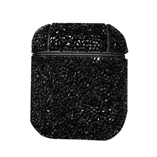 Baluue Compatible con Airpods 2/1 Funda - Cubierta de Caja de Carga de Auriculares inalámbricos de Diamantes de...