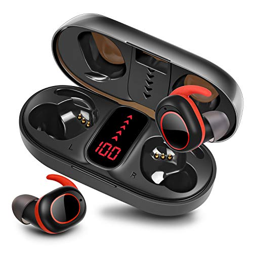 bakibo Auriculares Inalámbricos Bluetooth 5.1, Deportivos Auriculares con Micrófono IPX7 Verdadero Sonido Estéreo...