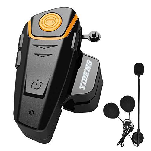 Auriculares Bluetooth para motocicleta, con intercomunicador universal inalámbrico para 2 o 3 usuarios (individual)