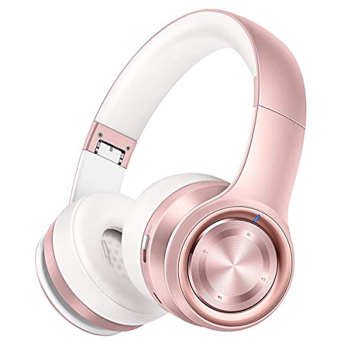 P26 Auriculares Bluetooth, Over Ear 80H de Hi-Fi Sonido Estéreo, Bajo Profundo Cable/Inalámbrico/TF, Plegable...