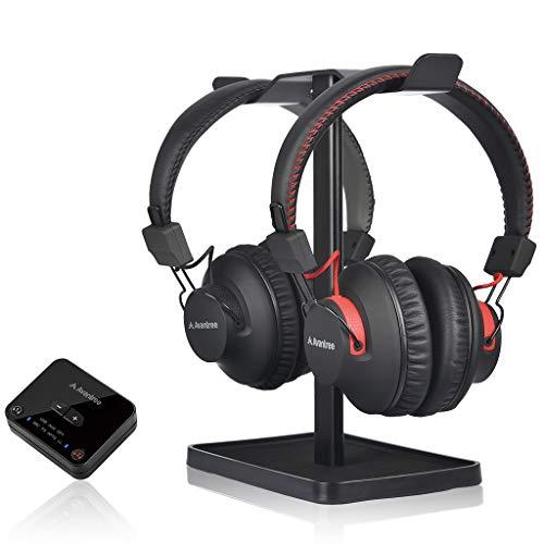 Avantree HT41899 Bluetooth 5.0 Duales Auriculares Inalámbricos para TV con Transmisor (Digital Óptico Aux RCA Pc USB),...