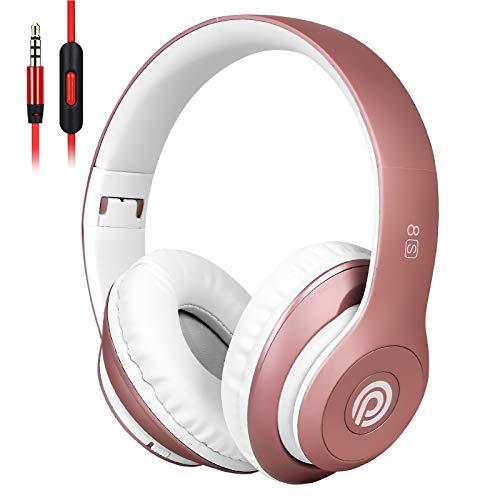 8S Auriculares Inalámbricos, Audífonos Inalámbricos Bluetooth Plegables HiFi con Micrófono Incorporado y Control de...