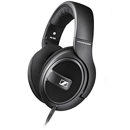 Sennheiser HD 569 - Auriculares de Diadema Cerrados (6.3 mm/3.5 mm, micrófono, Control Remoto), Color Negro