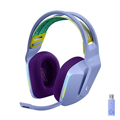 Logitech G733 LIGHTSPEED Auriculares con Micrófono Inalámbricos para Gaming con Diadema con Suspensión, LIGHTSYNC...