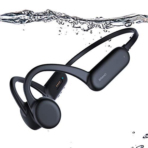 AQUYY Auriculares de Natación Bluetooth 5.0 de Conducción ósea, Reproductor de MP3 de Natación de 8GB, Cascos...
