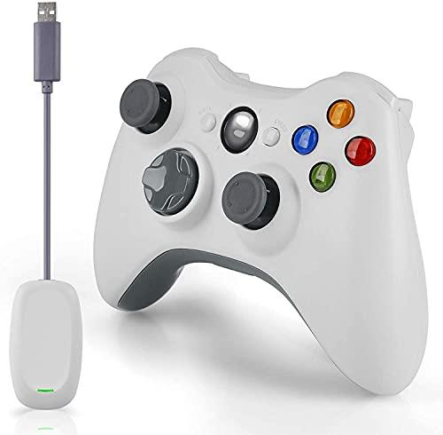 Mando inalámbrico para Xbox 360, 2,4 GHz, doble vibración, mando a distancia para Xbox 360, PC, Windows 7, 8, 10, con...