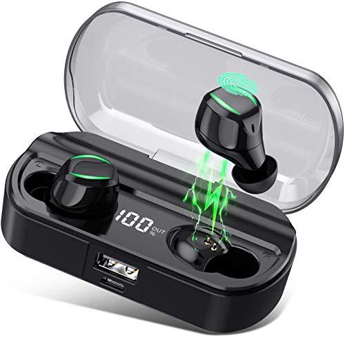 HETP - Auriculares Inalámbricos con Bluetooth 5.0, Impermeables IPX7 【 2020 TWS micrófono T23 】Auriculares...