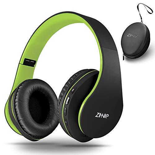 zihnic Auriculares Bluetooth Inalambricos, Cableados con Micrófono Plegables Estéreo Cascos Inalambricos Bajos...