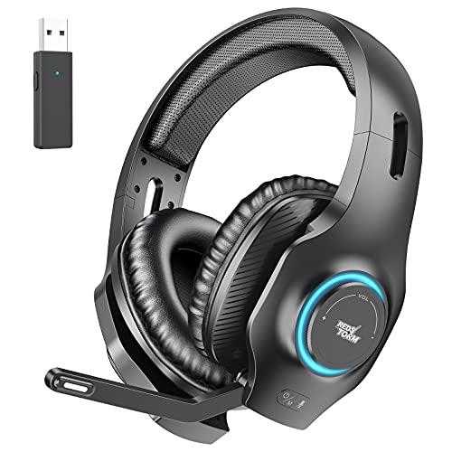 REDSTORM Auriculares inalámbricos para PC, juegos, micrófono con cancelación de ruido con micrófono, sonido...