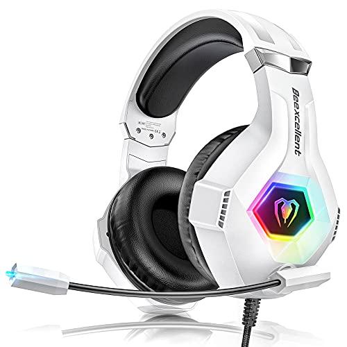Cascos Gaming PS4, Auriculares con Microfono Ajustable de 360 ° para PS4 PS5 Xbox One PC Laptop, Cascos PS4 con...