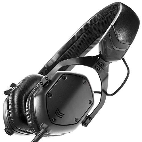 V-MODA XS-Metal Noise Isolating - Auriculares de diadema cerrados (control remoto integrado), negro