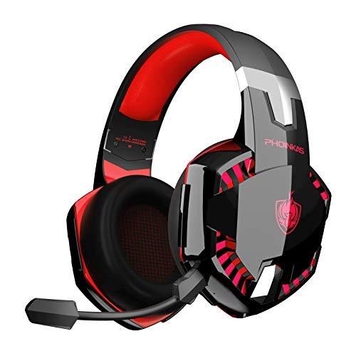 Auriculares PS4, PHOINIKAS Wired Gaming Kopfhörer für Xbox One, PC, Versión Mejorada Auriculares inalámbricos con...