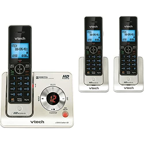 VTech LS6425-3 DECT 6.0 - Teléfono inalámbrico expandible con Sistema de Respuesta e identificación de...