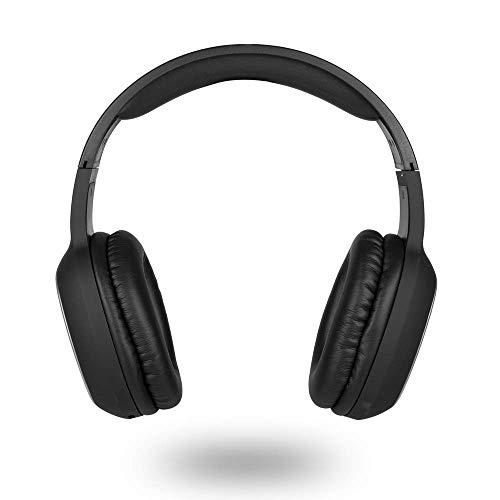 NGS ARTICA Pride Black- Auriculares Inalámbricos, Compatible con la Tecnología Bluetooth, con Micrófono, Batería de...