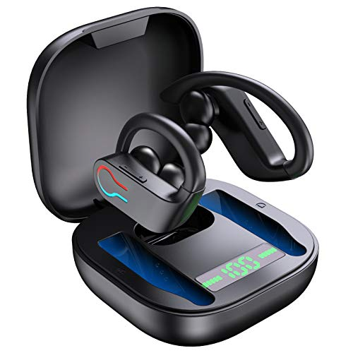 Auriculares Inalambricos Deportivos, Auriculares Bluetooth 5.1 con Micrófono, IP7 Impermeable, Reproducción de 45...
