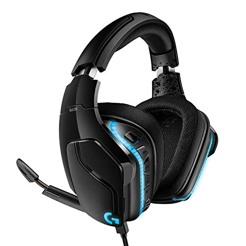 Logitech G635 Auriculares Gaming RGB con Cable, Sonido 7.1 Surround, DTS Headphone:X 2.0, Transductores 50mm Pro-G,...