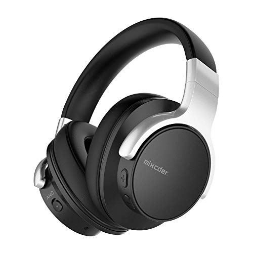 Mixcder E7 Auriculares con cancelación de ruido activa, Bluetooth 5.0, inalámbricos, con graves profundos Hi-Fi, 30...