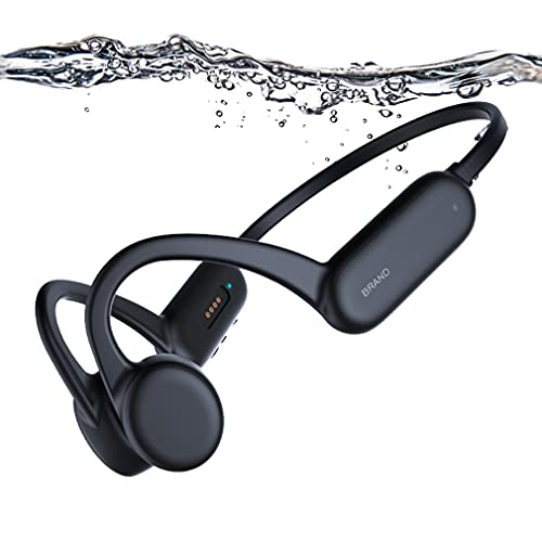 Auriculares de Natación Bluetooth 5.0 de Conducción ósea, Reproductor de MP3 de Natación de 8GB, Cascos Deportivos...