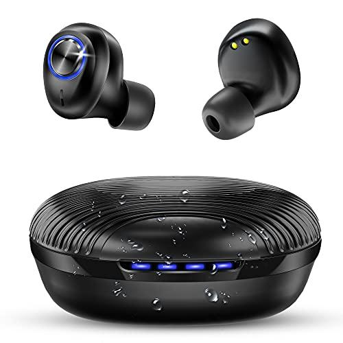 bakibo Auriculares Bluetooth 5.1, Inalámbricos Auriculares IPX7 Impermeable con USB C 27 Horas Caja de Carga Portátil,...