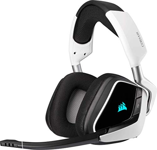 Corsair Void Elite RGB Wireless Auriculares para Juegos (7.1 Sonido Envolvente, Inalámbrico de 2.4 GHz de Baja...