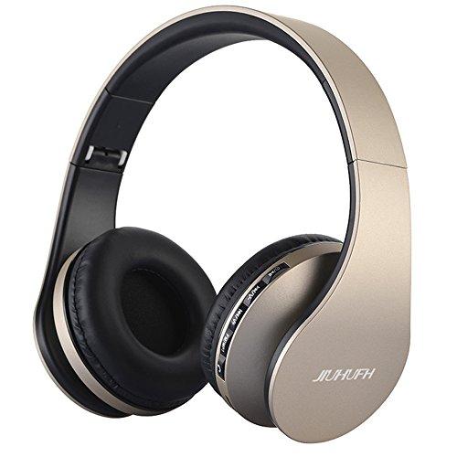 JIUHUFH Auriculares Bluetooth con micrófono Incorporado/Reproductor de MP3/Radio FM/Modo con Cable para PC/Teléfonos...