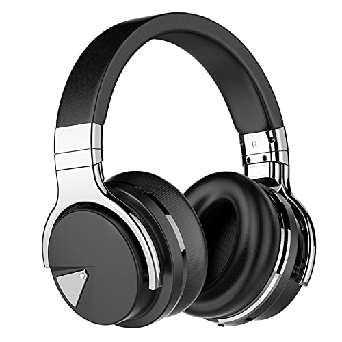 Tapela E7 Auriculares con cancelación Activa de Ruido Bluetooth con micrófono Auriculares inalámbricos de Graves...