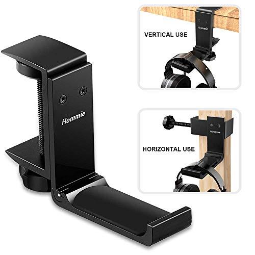 Soporte Auriculares de Metal Silicona, Hommie Soporte Cascos con Organizar de Cable para Bose QuietComfort,Beats Solo 3,...