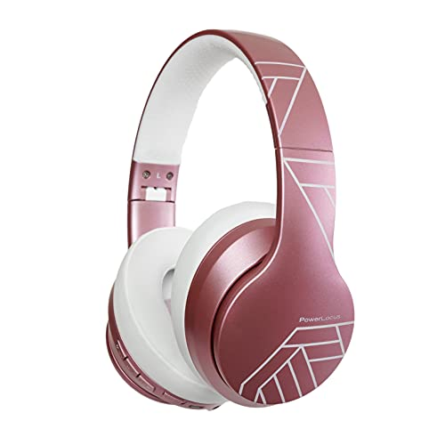 PowerLocus Auriculares Inalámbricos Diadema, Cascos Bluetooth con Micrófono Incorporado,Hi-Fi Sonido Estéreo Super...