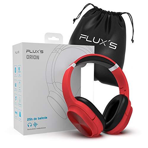 Auriculares Bluetooth de Diadema Flux'S, Cascos Bluetooth 5.0 Inalámbricos, Alta fidelidad, Plegables, Micrófono...