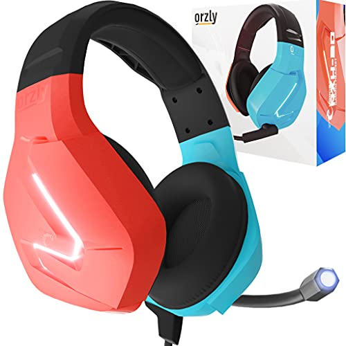 Orzly Auriculares para Juegos micrófono compatibles con Nintendo Switch OLED y Lite Joycon Color Match con micrófono...