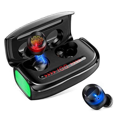 Auriculares Bluetooth In-Ear Bluetooth 5.0 USB-C Carga Rápida LED 3000 mAh Auriculares Inalámbricos Deportivos...
