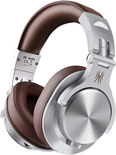 OneOdio A70 Auricurales Bluetooth Inalambricos 50H, Auriculares Cable de 3.5mm, Auriculares Diadema Cerrados 90°...