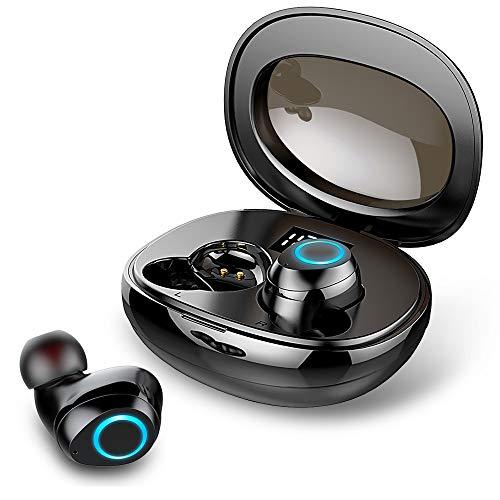 Auriculares Inalámbricos, Rinsmola Auriculares Bluetooth 5.0 Mini Cascos Inalámbricos IP7 Impermeable In-Ear...