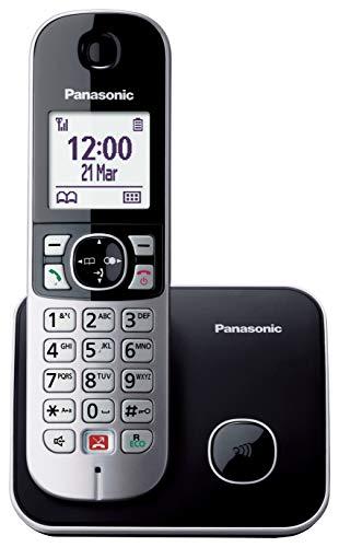 Panasonic KX-TG6851SPB Teléfono Fijo Inalámbrico Digital (Bloqueo de Llamadas, Manos Libres, Modo No Molestar,...
