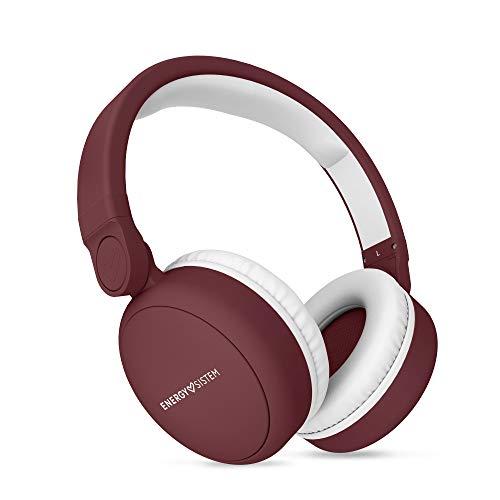 Energy Sistem Headphones 2 - Auriculares con Bluetooth (Over-Ear, Audio-In, Long Battery Life, 180 Plegable) Rojo