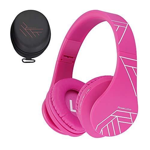 Auriculares para niños, PowerLocus Auriculares Bluetooth para niños, con 85DB Volumen Limitado, Auriculares Plegable...